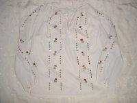 エスニック 花柄刺繍 チュニック