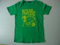 グリーンプリントTシャツ