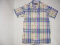Ralph Lauren Poloラルフローレン 半袖オープンカラーシャツ チェック柄