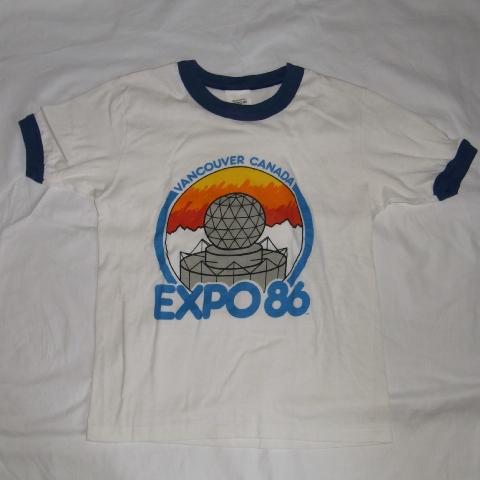 画像1: カナダ EXPO86 リンガーシャツ