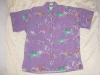 Ralph Lauren CHAPS ラルフローレン 半袖BDシャツ サーフィン柄
